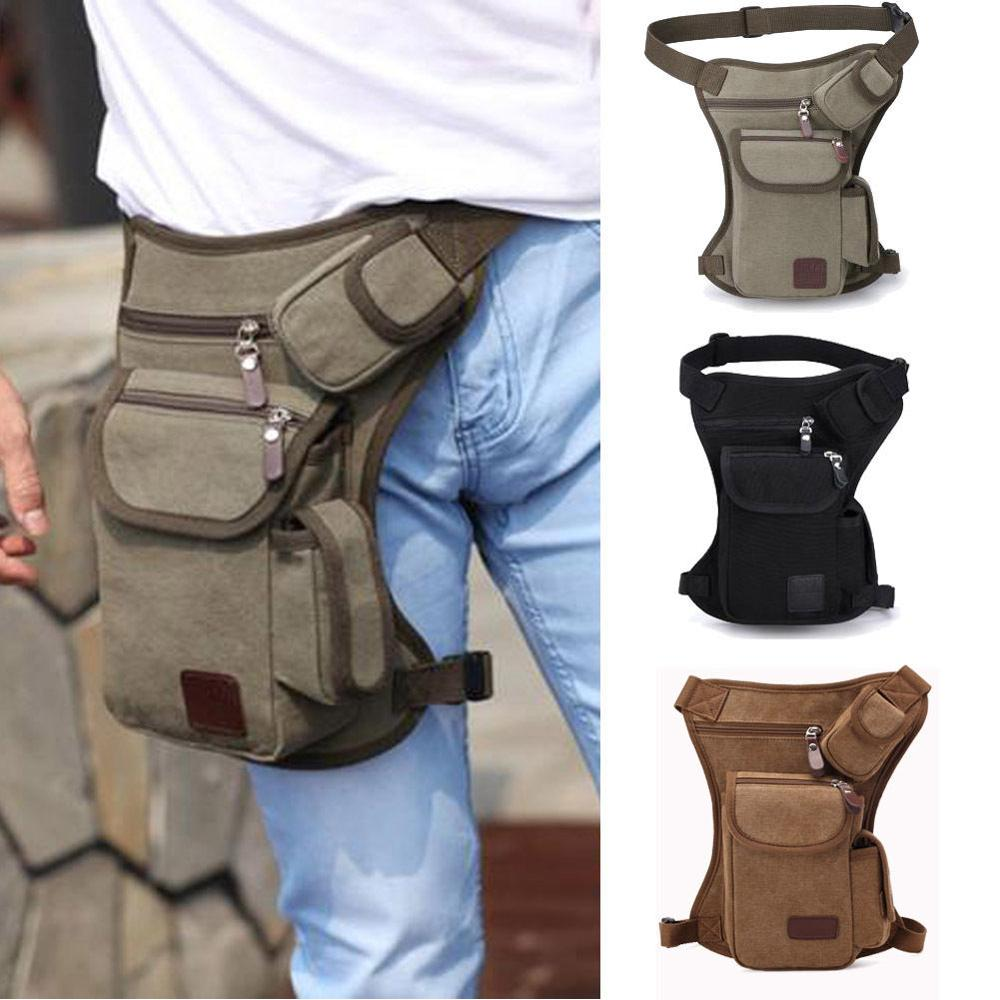 Men Waterproof Canvas Waist Drop Leg Bag Thigh Hip Bum Belt Fanny Pack Casual Motorcycle Ride Outdoor Running Sport Leg Bag New