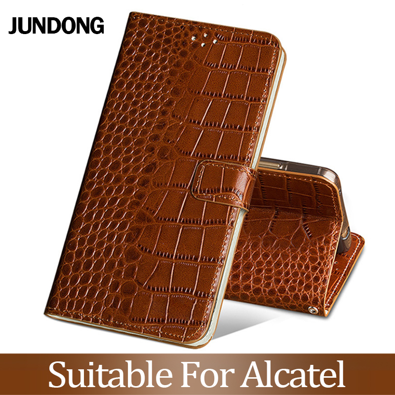 For Alcatel X1 S1 1C 3 3L 2019 A30 7 C7 A7XL Pixi 4 5.0 Case Cowhide Luxury Card slot wallet phone flip cover