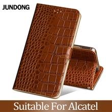 For Alcatel X1 S1 1C 3 3L 2019 A30 7 C7 A7XL Pixi 4 5.0 Case Cowhide Luxury Card slot wallet phone flip cover