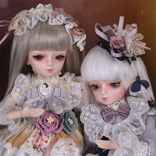 18 Movable Joints BJD Doll 1/4 With Full Outfits Wigs Shoes official Makeup Ball Jointed Dolls collection kids toys Christmas gi 2