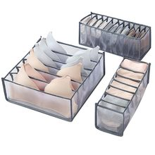 Underwear Bra Storage Box 2 Colors Drawer Divider Closet Organizers Boxes For Underwear Scarves Socks Organizer Bags 1PC(China)