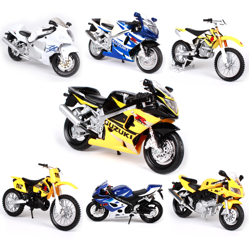 Maisto 1:18 SUZUKI Motorcycle Metal Model Toys For Children Birthday Gift Toys Collection