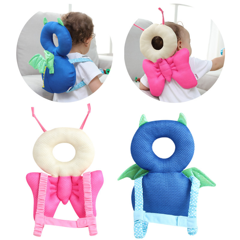 Baby Walking Protective Pillow Head Protection Pillow Mesh Cotton Cushion Shockproof Anti-falling Baby Care