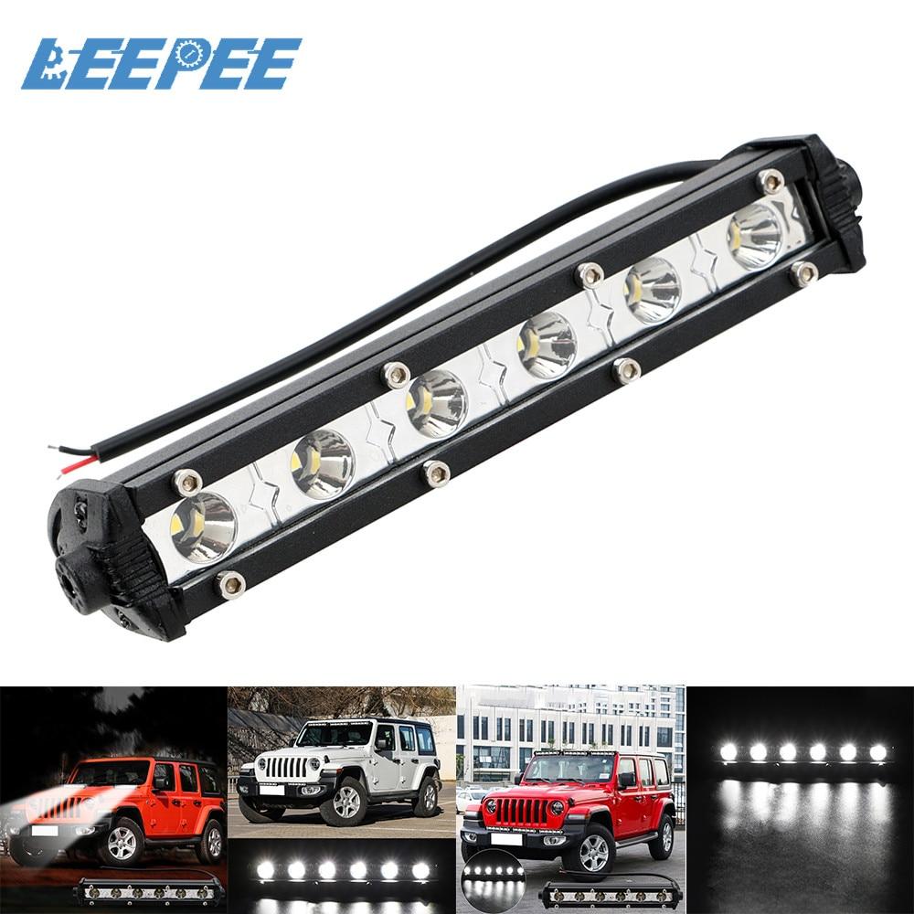 LEEPEE LED Work Light Car Lights Bar Offroad Work Lamp ATV SUV 4WD Headlight 18W Super Bright Car-styling Accessories