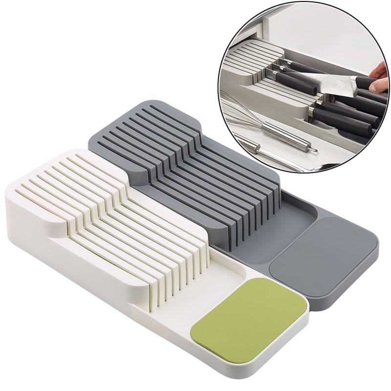 Kitchen Knife Blocks Drawer Store Kitchen Drawer Organizer Tray For Knives Knife Block Storage Organizer Stand Rack Holders
