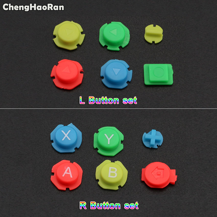 ChengHaoRan Colorful ABXY Directions Keys Buttons Joystick For Nintendo Switch NS NX Controller Joy-con Left Right Controller