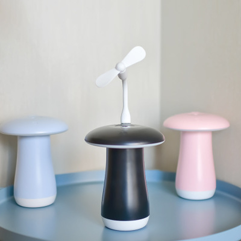 Portable Multi-function Mushroom Humidifier Night Light Two In One USB Portable Bedroom Desktop Car Humidifier Mini Night Light