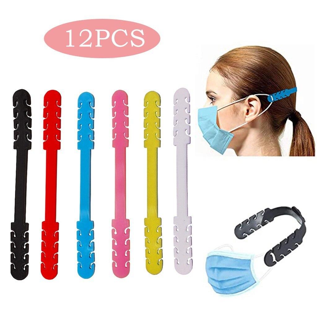 12 шт. маска-удлинитель для лица, держатель для маски, защита ушей от затягивания, эластичный ремешок для ушей, чехол для лица и рта, аксессуар...