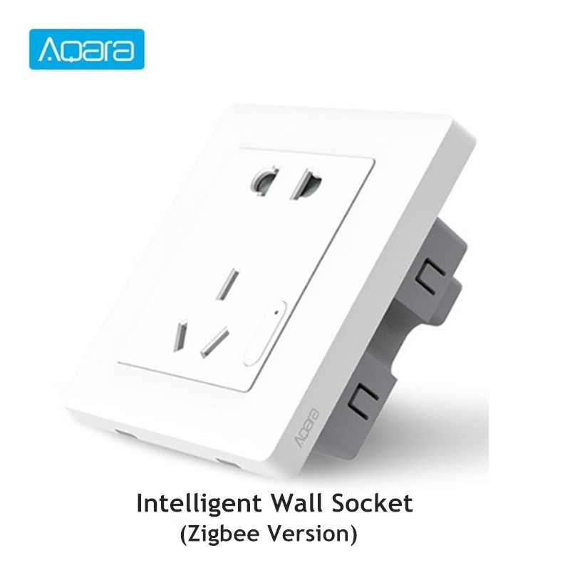 Aqara Smart Wall Socket ZigBee Wifi Remotel Control Wireless Switch Work For Mi Smart Home Kits APP