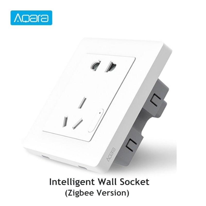 Aqara Smart Wall Socket ZigBee Wifi Remotel Control Wireless Switch Work For Mi Smart Home Kits APP
