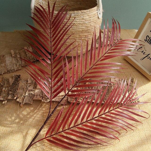 70 سنتيمتر أوراق النخيل جوز الهند ليف النباتات الاصطناعية ورد صناعي حفل زفاف عيد الميلاد ديكور المنزل DIY بها بنفسك