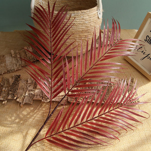 Image 1 - 70cm Palm leaf coconut leaf Artificial plants fake flower wedding party Christmas home decoration DIY