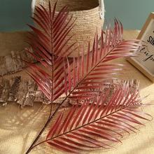 Hoja de palma de 70cm, hoja de coco, plantas artificiales, flor falsa, boda, fiesta, Navidad, decoración del hogar, bricolaje