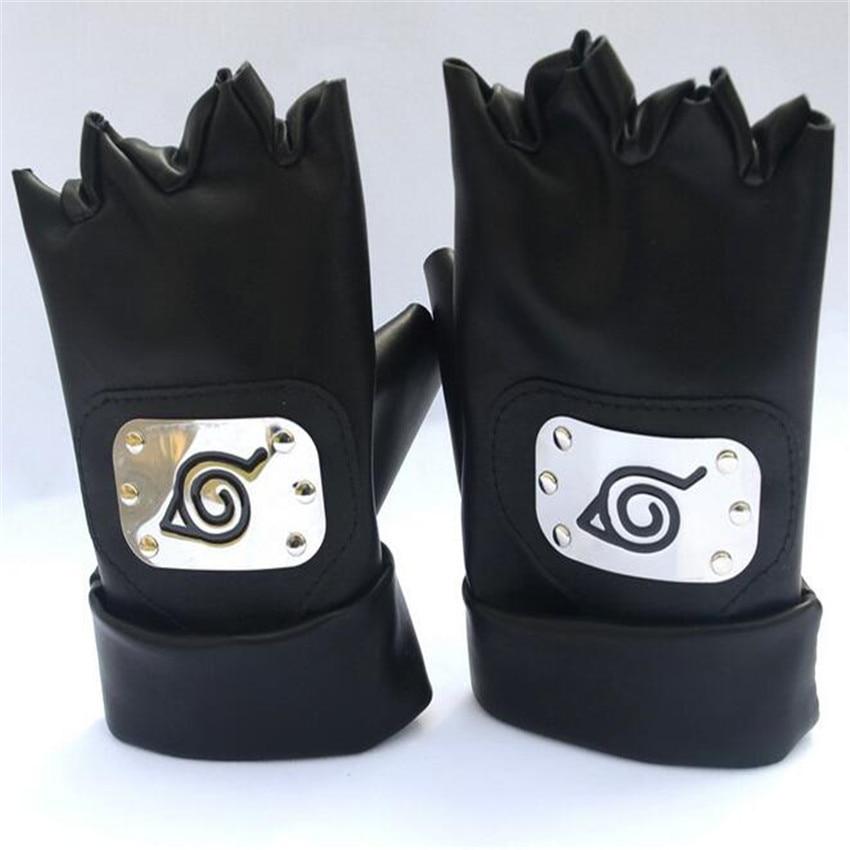 Anime Naruto Hatake Kakashi Gloves Cosplay Costumes Accessories Kakashi Mittens Anime Apparel Around Props