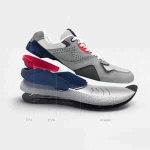Image 4 - Xiaomi Mijia حذاء جري من الجلد الطبيعي المتين ومسامي ، أحذية رياضية ريترو ، 2020