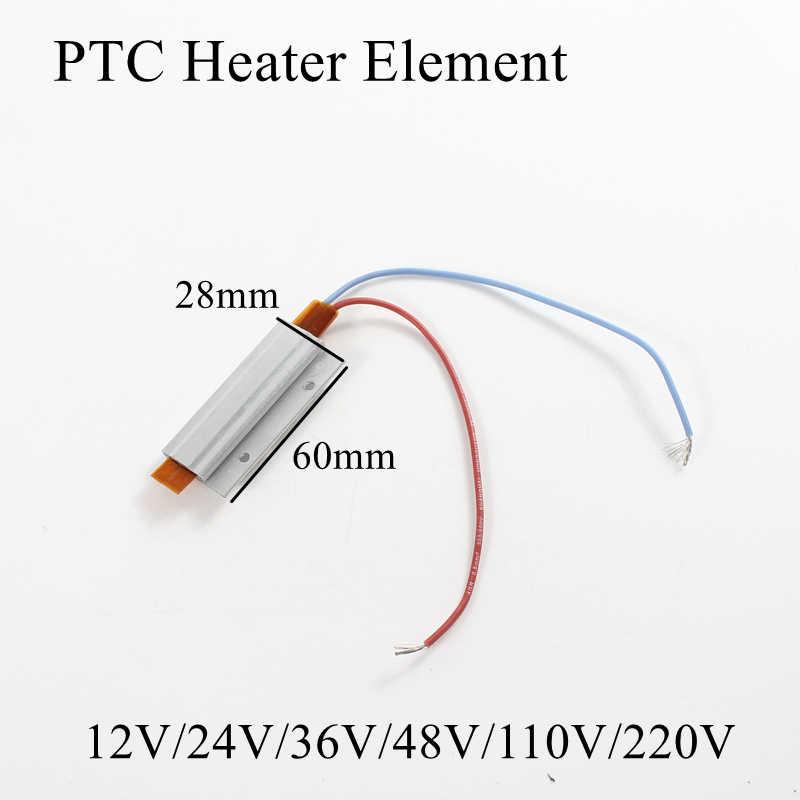 60x28mm 12V 24V 36V 48V 110V 220V PTC Heizung Element Konstante thermostat Thermistor Luft Heizung Sensor Aluminium Shell 60*28mm