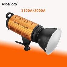 NiceFoto 150/200 واط LED صور الفيديو الضوئي 3200 6500 كيلو للاستوديو يوتيوب كاميرا التصوير الإضاءة صور مصباح