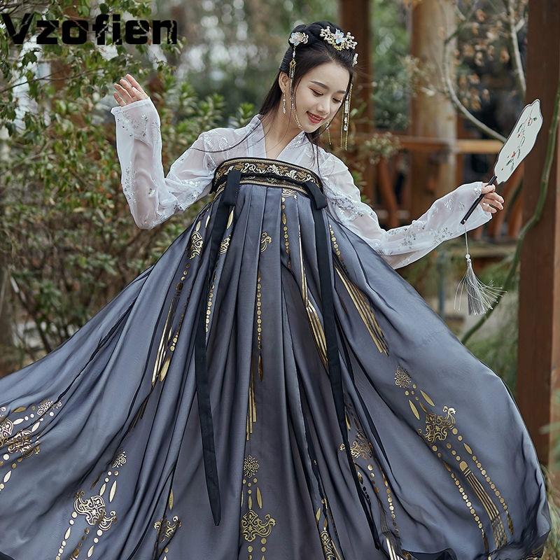 Hanfu traje feminino elegante estilo tradicional chinês hanfu vestido de princesa antigo folk tang terno fadas desempenho roupas
