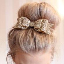 Женская заколка для волос с большим бантом, 7 цветов