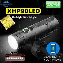 Велосипедный светодиодный фонарь xhp90 водонепроницаемый передний