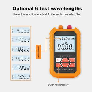 Image 3 - Mini 4 in 1 Multifunction Optical Power Meter Visual Fault Locator Network Cable Test optical fiber tester 5km 15km VFL