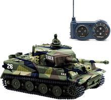Tanque alemán Tiger Panzer 1:72, minitanque teledirigido con torreta giratoria y sonido, juguetes electrónicos de alta simulación