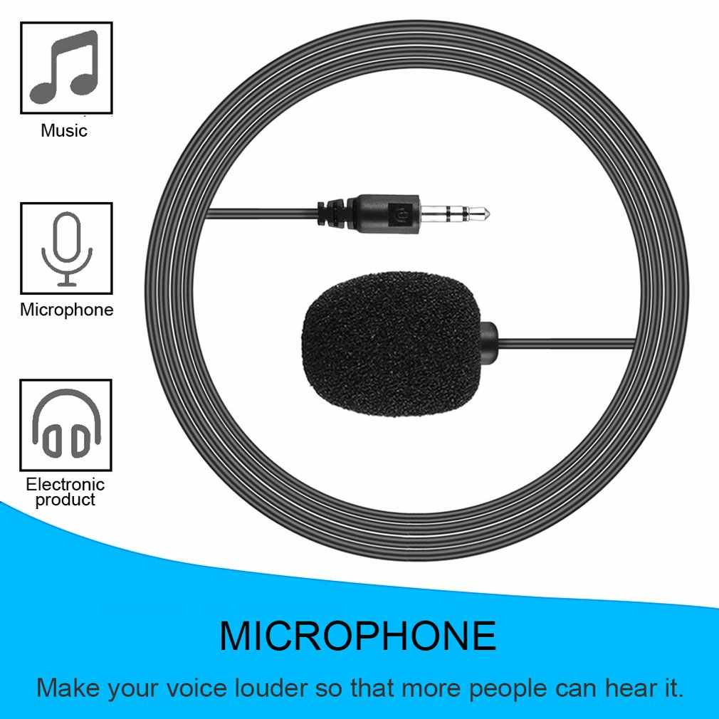 Newest External 3.5mm Clip-on Lapel Lavalier Microphone For Smart Phone PC Laptop