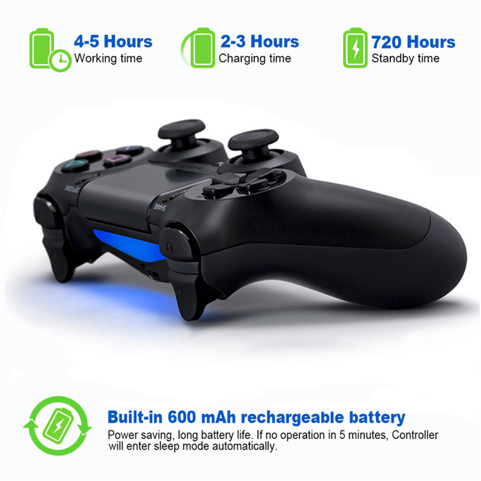 Bluetooth Gamepad and Wireless Gaming Controller for PS4 Pro/PC/iPhone/Android Smartphone 10