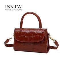 все цены на ISXTW Small Square Bag 2019 Autumn Fashion New High Quality PU Leather Handbag Crocodile Pattern Shoulder Messenger Bag / A38 онлайн