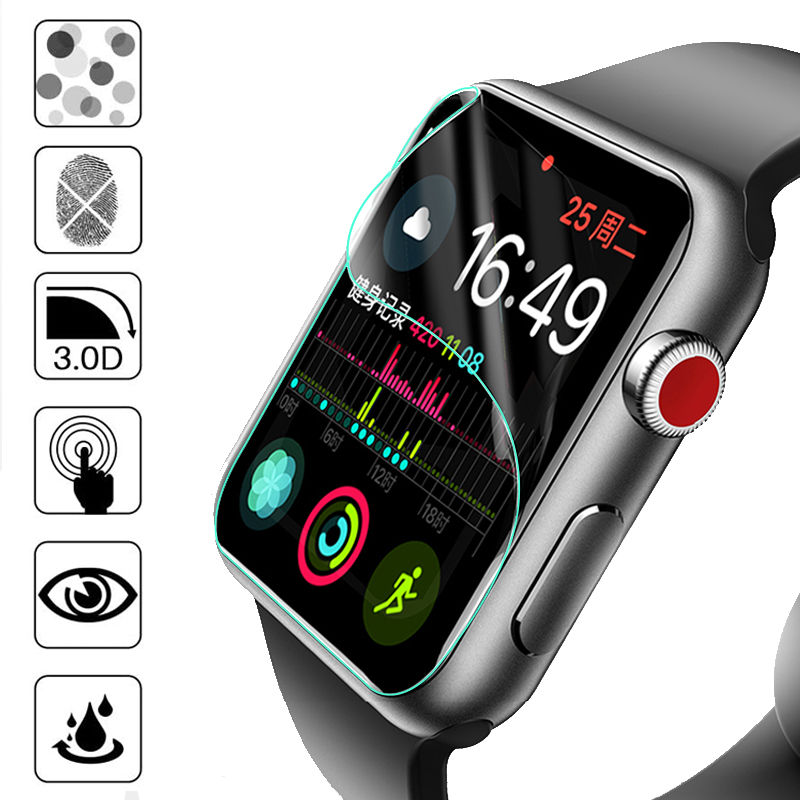 Film for apple watch 5 44mm 40mm screen protector iwatch series 5 4 3 2 1 38mm 40mm HD soft glass apple watch accessories 40 44