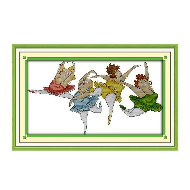 Paffuto balletto punto croce kit 18ct 14ct 11ct conteggio stampato tela di cucitura del ricamo FAI DA TE cucito a mano
