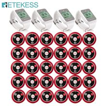 Stücke Retekess Wireless Kellner Aufruf System Restaurant Pager TD108 Uhr Empfänger + 30 stücke T117 Sender Für Kunden Service
