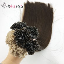HiArt 50г человека Реми U кончик наращивание волос салон двойной рисованные волос сплавливания 24