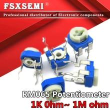 20pcs RM065 RM-065 100 200 500 20 10 5 2 1K K K K K K 100K 200K 500K 1 50 M ohm Trimpot Trimmer Potenciômetro resistor variável 103