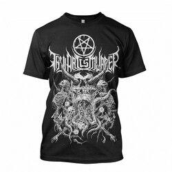 Camiseta S-2XL novo authentic thy arte é assassinato riddick crânio pilha