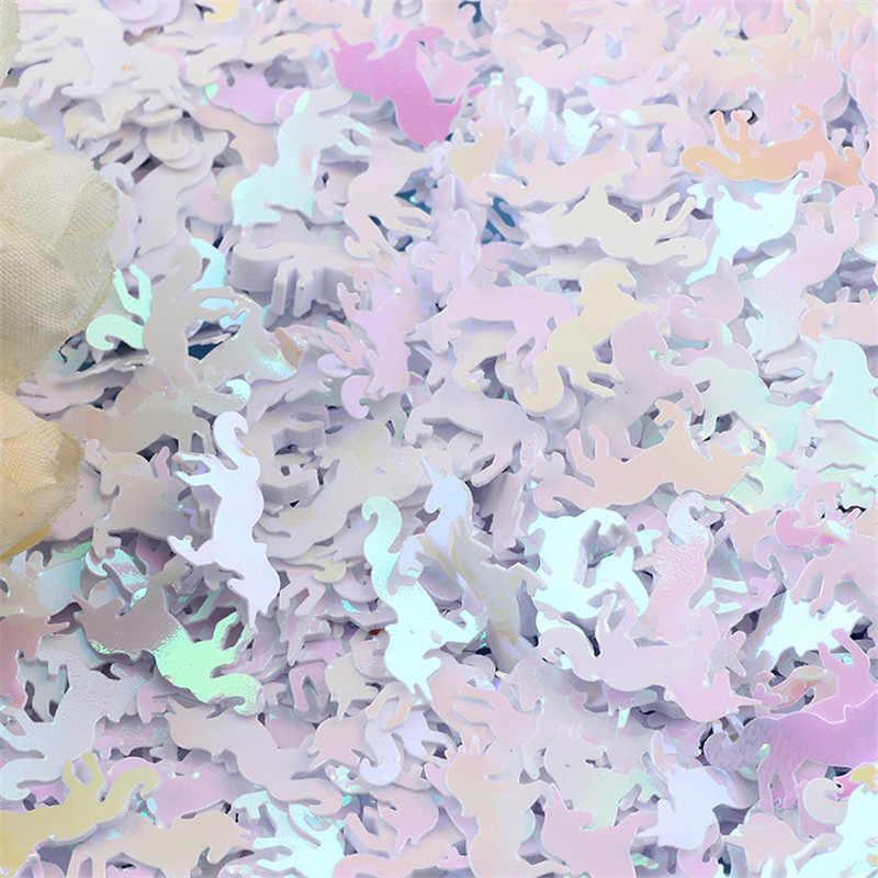 50 جرام/الحقيبة البسيطة يونيكورن الترتر سحر ل إمدادات الوحل المعجون بوليمر كلاي Diy اكسسوارات Lizun ل شرائح ديكور لعب ل الاطفال