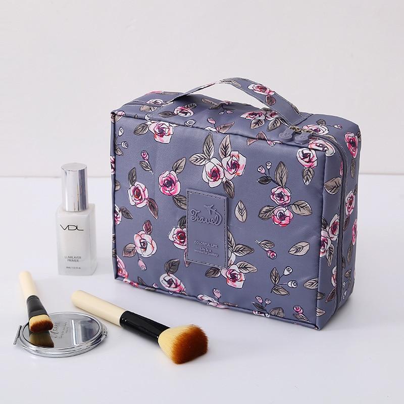 The New Travel Cosmetic Bag Neceser Women Makeup Bags Toiletries Organizer Makeup Bag  Waterproof Female Storage Make Up Bag