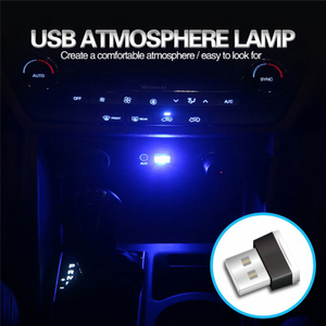 Image 3 - Auto Car Accessories Mini USB Light LED Modeling Car Ambient Light Neon Car Interior Light Car Jewelry (7 kinds of light colors)