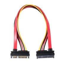 22Pin SATA kablosu erkek kadın 7 + 15 Pin seri ATA SATA veri güç Combo uzatma kablosu konektörü Conterver