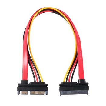 цена на 22Pin SATA Cable Male to Female 7+15 Pin Serial ATA SATA Data Power Combo Extension Cable Connector Conterver