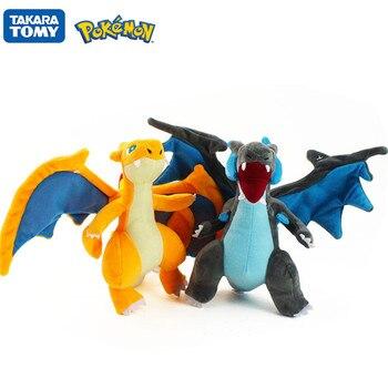 TAKARA TOMY Pokémon Pokemon Action figure Pikachu Evolution Spitfire Dragon XY Version Mega Plush toy Children doll Toy Gift недорого