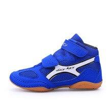 Уличная борцовская обувь для детей, мягкие Оксфордские подошвы, боксерская обувь для мальчиков и девочек, студенческие дышащие Спортивные кроссовки D0882