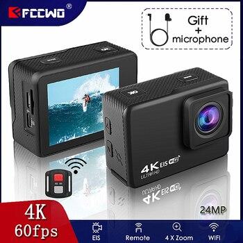 """H10 EIS Anti-shake Action Camera Ultra HD 4K / 60fps WiFi 2.0"""" 170D Underwater Waterproof Cam Helmet Vedio Go Sport Pro Came 1"""