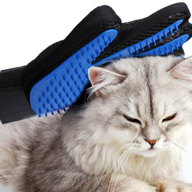 Cleaning Massage Remove Floating Hair Polyester Silicone Pet Grooming Glove Cat Gloves Cat Brush Dog Accessories Pet Supplies
