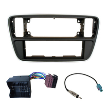 Single Din Car Dash Kit Harness Antenna for Volkswagen up! Skoda Citigo; Seat Mii 2012+ Frame Radio Panel Fascia Facia Plate