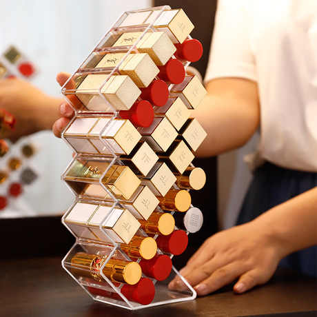 28 Grids Acryl Make Organizer Opbergdoos Cosmetische Lippenstift Sieraden Box Case Holder Display Stand Make Up Organizer