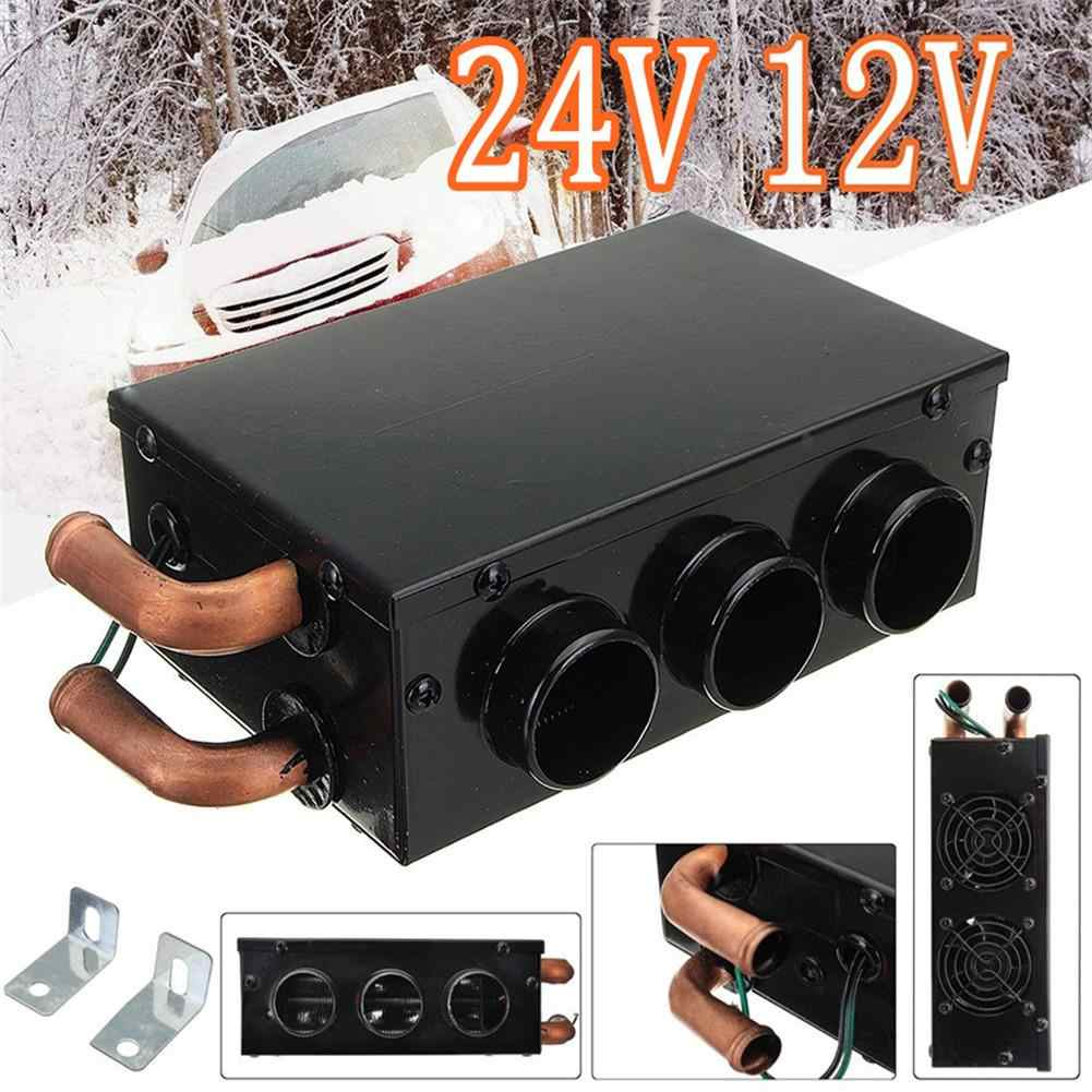 12V 1000W Car Heater Defroster Water Heating Fan Fast Warmer Trucks Van 2 Holes