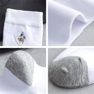 Image 5 - 2020 Mens Casual Stripe Plaid Gift Socks Solid Color Cotton Socks Deodorant Breathable Mens Socks 5 Pairs Beautiful Boxed