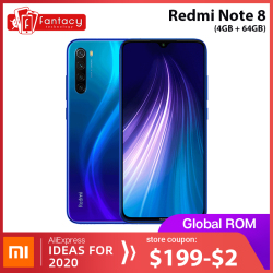 Global ROM Xiaomi Redmi Note 8 4GB 64GB 48MP Quad Cameras Smartphone Snapdragon 665 Octa Core 6.3 FHD Screen 4000mAh
