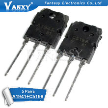 10PCS 5pairs 2SC5198 2SA1941 TO3P (5PCS A1941 + 5PCS C5198) TO-3P Transistor originale autentico(China)